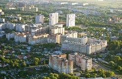 Ciudad de la visión superior de Ryazan Foto de archivo libre de regalías