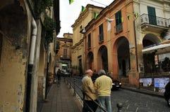 Ciudad de Lanciano - opinión de la calle Foto de archivo libre de regalías