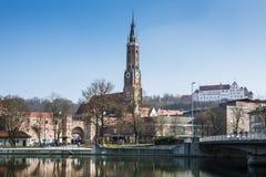 Ciudad de Landshut Foto de archivo