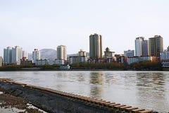 Ciudad de Lanzhou fotos de archivo