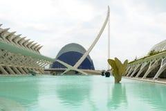 Ciudad de las Artes y de las Ciencias Foto de Stock Royalty Free