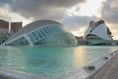 Ciudad de las Artes y de las Ciencias Imagens de Stock Royalty Free