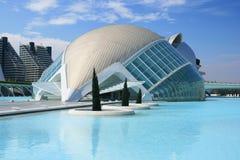 Ciudad de las Artes y las Ciencias. Museos en la ciudad de las Artes y las Ciencias de valencia; Spain Stock Image