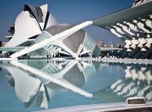 Ciudad de las Artes y las Ciencias - Valencia. (City of the Arts and the Sciences - Valence stock image