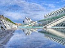 Ciudad de las Artes y las Ciencias in Valencia. Calatrava's beautiful complex Royalty Free Stock Image
