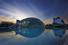 Ciudad de las artes y las ciencias. Valencia-Spain Royalty Free Stock Photography