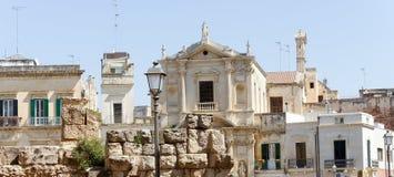 Ciudad de Lecce imagenes de archivo