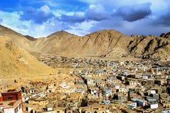 Ciudad de Leh (ciudad de gompas) Imagen de archivo libre de regalías