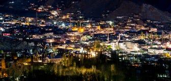 Ciudad de Leh en la noche Imagen de archivo libre de regalías