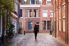 Ciudad de Leiden, Países Bajos foto de archivo