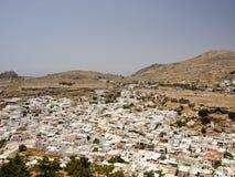 Ciudad de Lindos Imagen de archivo