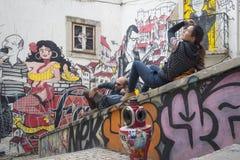 Ciudad de Lisboa foto de archivo