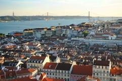 Ciudad de Lisboa escénica fotografía de archivo libre de regalías