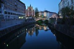 Ciudad de Ljubljana Foto de archivo libre de regalías