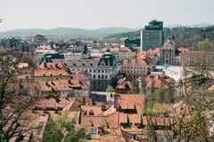Ciudad de Ljubljana Foto de archivo