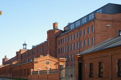 Ciudad de Lodz, fábrica renovada fotos de archivo