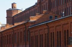 Ciudad de Lodz, fábrica renovada fotografía de archivo libre de regalías