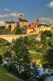 Ciudad de Loket en Bohemia Fotos de archivo libres de regalías