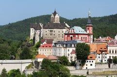 Ciudad de Loket, República Checa Fotos de archivo