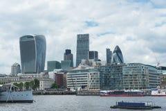 Ciudad de Londres con Támesis Fotos de archivo