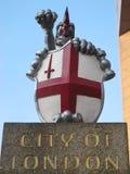 Ciudad de Londres, dragón Imagen de archivo