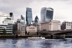 Ciudad de Londres, el hogar financiero de Londres Imagen de archivo libre de regalías
