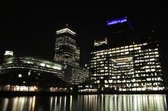 Ciudad de Londres en la noche Imagen de archivo libre de regalías