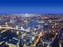 Ciudad de Londres en la noche Fotografía de archivo
