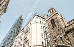 Ciudad de Londres Horizonte moderno del distrito financiero Fotos de archivo