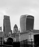 Ciudad de Londres, monocromática Foto de archivo