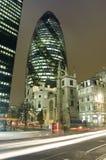 Ciudad de Londres por noche Imagen de archivo libre de regalías