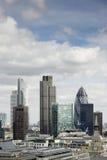 Ciudad de Londres, su districto financiero Fotografía de archivo