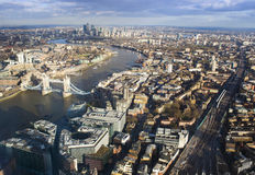 Ciudad de Londres, visión aérea Imagenes de archivo