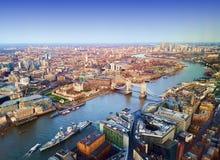 Ciudad de Londres, visión aérea Imagen de archivo libre de regalías