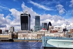 Ciudad de Londres y del buque de guerra del HMS Belfast, Londres Foto de archivo libre de regalías