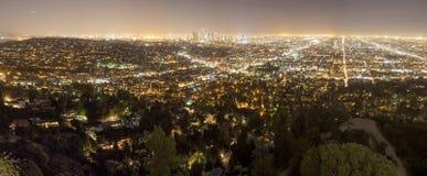 Ciudad de Los Ángeles en la noche Imagen de archivo libre de regalías