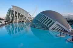 Ciudad de los artes y de la ciencia, Valencia imágenes de archivo libres de regalías