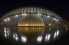 Ciudad de los artes y de las ciencias en la noche Fotos de archivo