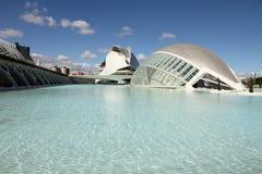Ciudad de los artes y de las ciencias Valencia abierta Imagen de archivo libre de regalías