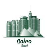 Ciudad de los edificios famosos de El Cairo Egipto ilustración del vector