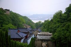 Ciudad de los fantasmas de Fengdu Imagenes de archivo