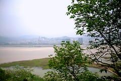 Ciudad de los fantasmas de Fengdu Foto de archivo