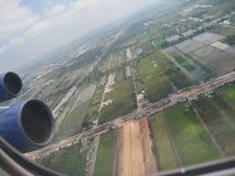 Ciudad de los megapolis de Bangkok Asia Tailandia Foto de archivo libre de regalías