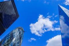Ciudad de los rascacielos de Londres foto de archivo libre de regalías