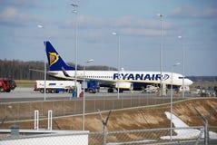 Vuelo de Ryanair de Lublin a Dublín Foto de archivo