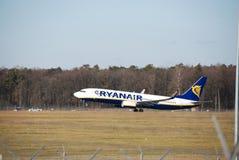 Vuelo de Ryanair de Lublin a Dublín Imagen de archivo libre de regalías