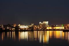 Ciudad de luces Foto de archivo libre de regalías