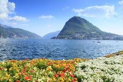 Ciudad de Lugano Foto de archivo