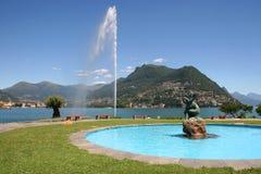 Ciudad de Lugano, Suiza Foto de archivo libre de regalías