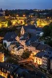 Ciudad de Luxemburgo Imagen de archivo